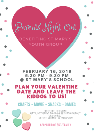 parents night out fundraiser