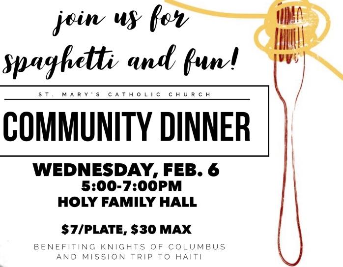 parish community dinner (feb. 2019)