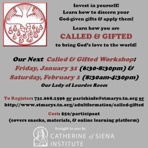 Called & Gifted Publicity (Jan. 2020)